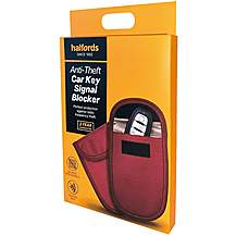 Halfords Anti RFID Theft Key Wallet - Red