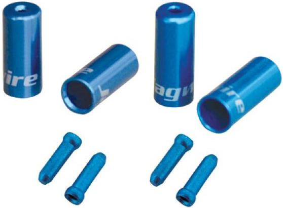 Jagwire Pro End Cable Ferrules - Blue