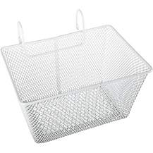 image of Halfords Kids Metal Bike Basket - White