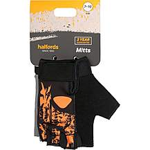 image of Halfords Essential Triangle Junior Bike Mitts - Orange (7-10 years)