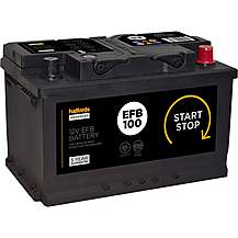 Halfords EFB100 Start Stop Car Battery 5 Year