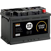 Halfords EFB096 Start Stop Car Battery 5 Year