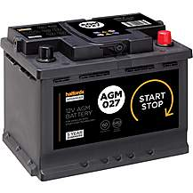 Halfords AGM027 Start Stop Car Battery 5 Year