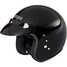 image of Duchinni D501 Open Face Motorcycle Helmet - Gloss Black