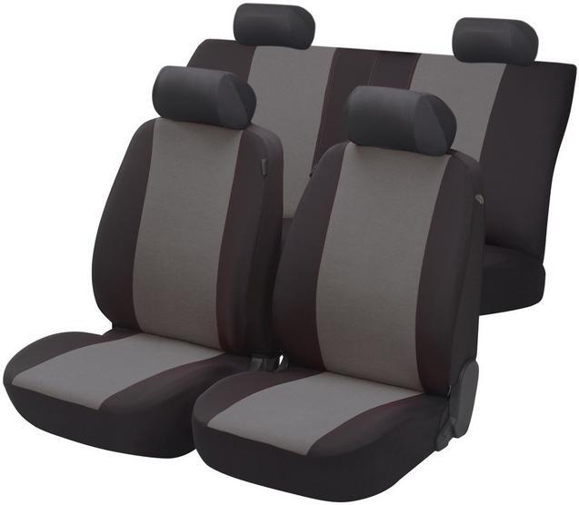 Essentials Seat Covers Full Set Black Grey