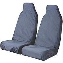 image of Halfords Car Seat Protectors - Front Pair in Blue