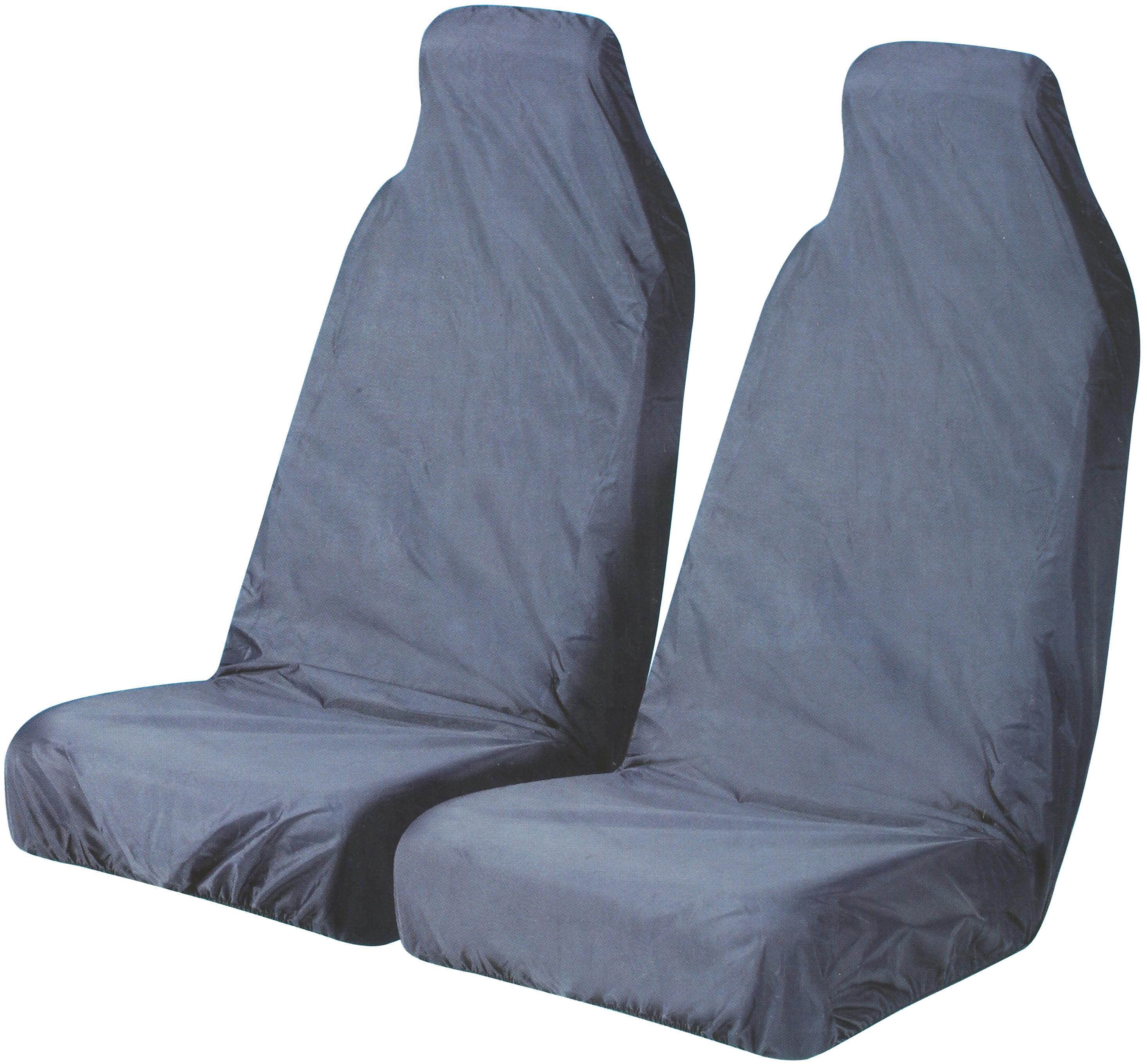 Halfords Car Seat Protectors   Front Pair In Blue