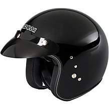 image of Duchinni D501 Open Face Motorcycle Helmet - Gloss Black, XL
