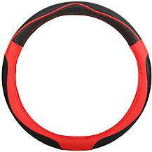 image of Halfords Black/Red Steering Wheel Cover