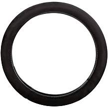 image of Halfords Plush Black Steering Wheel Cover