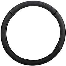 image of Halfords Black Leather Steering Wheel Cover