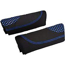 image of Halfords Black & Blue Dots Memory Foam Seat Belt Pads
