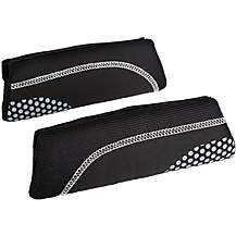 image of Halfords Black & Grey Dots Memory Foam Seat Belt Pads
