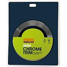 image of Halfords Chrome Trim 8mm D-Shaped