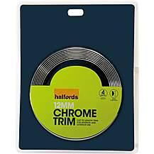 image of Halfords Chrome Bodywork Trim 12mm D-Shaped