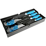 image of Halfords Advanced Modular Tray Set - 22 Piece Screwdriver And Hex Key Set