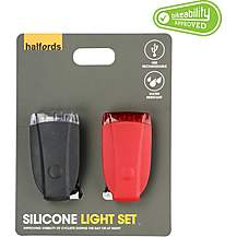 image of Halfords Silicone Bike Light Set