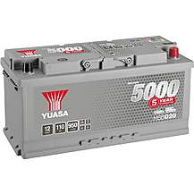 image of Yuasa HSB020 Silver 12V Car Battery 5 Year Guarantee