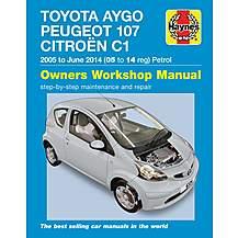 image of Haynes Toyota Aygo, Peugeot 107 & Citroen C1 Petrol (2005-2014) Manual