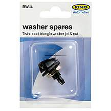 image of Ring Washer Spares - Twin Outlet Triangle Washer Jet & Nut RWJ4