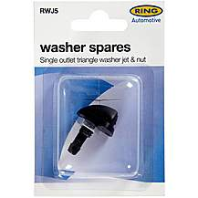 image of Ring Single Outlet Triangle Washer Jet & Nut RWJ5
