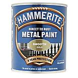 Hammerite Direct to Rust Metal Paint Smooth Gold 750ml