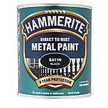 Hammerite Direct to Rust Metal Paint Satin Black 750ml