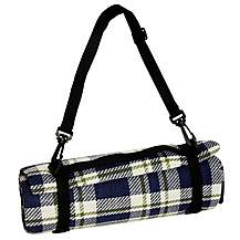 image of Halfords Waterproof Tartan Picnic Blanket XL