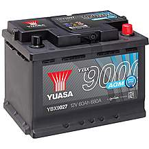 image of Yuasa 4 Year Guarantee YBX9027 Start/Stop 12V AGM Car Battery