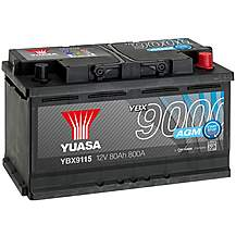 image of Yuasa 4 Year Guarantee YBX9115 Start/Stop 12V AGM Car Battery