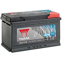 image of Yuasa 4 Year Guarantee YBX7115 Start/Stop 12V EFB Car Battery