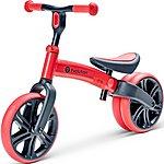 "image of Y Velo Junior Balance Bike - Red - 9"" Wheel"