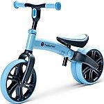 "image of Y Velo Junior Balance Bike - Blue - 9"" Wheel"