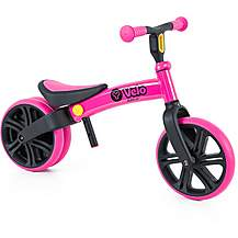 "image of Y Velo Junior Balance Bike - Pink - 9"" Wheel"