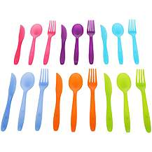 image of Halfords Plastic Cutlery set of 18