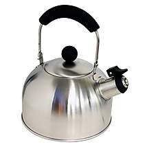 image of Halfords Stainless Steel Whistling Kettle New