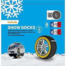 image of Halfords Snow Socks Large