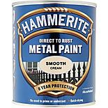 Hammerite Direct to Rust Metal Paint Smooth Cream 750ml