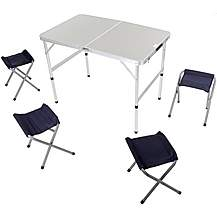 image of Halfords Folding Picnic Table With Stools