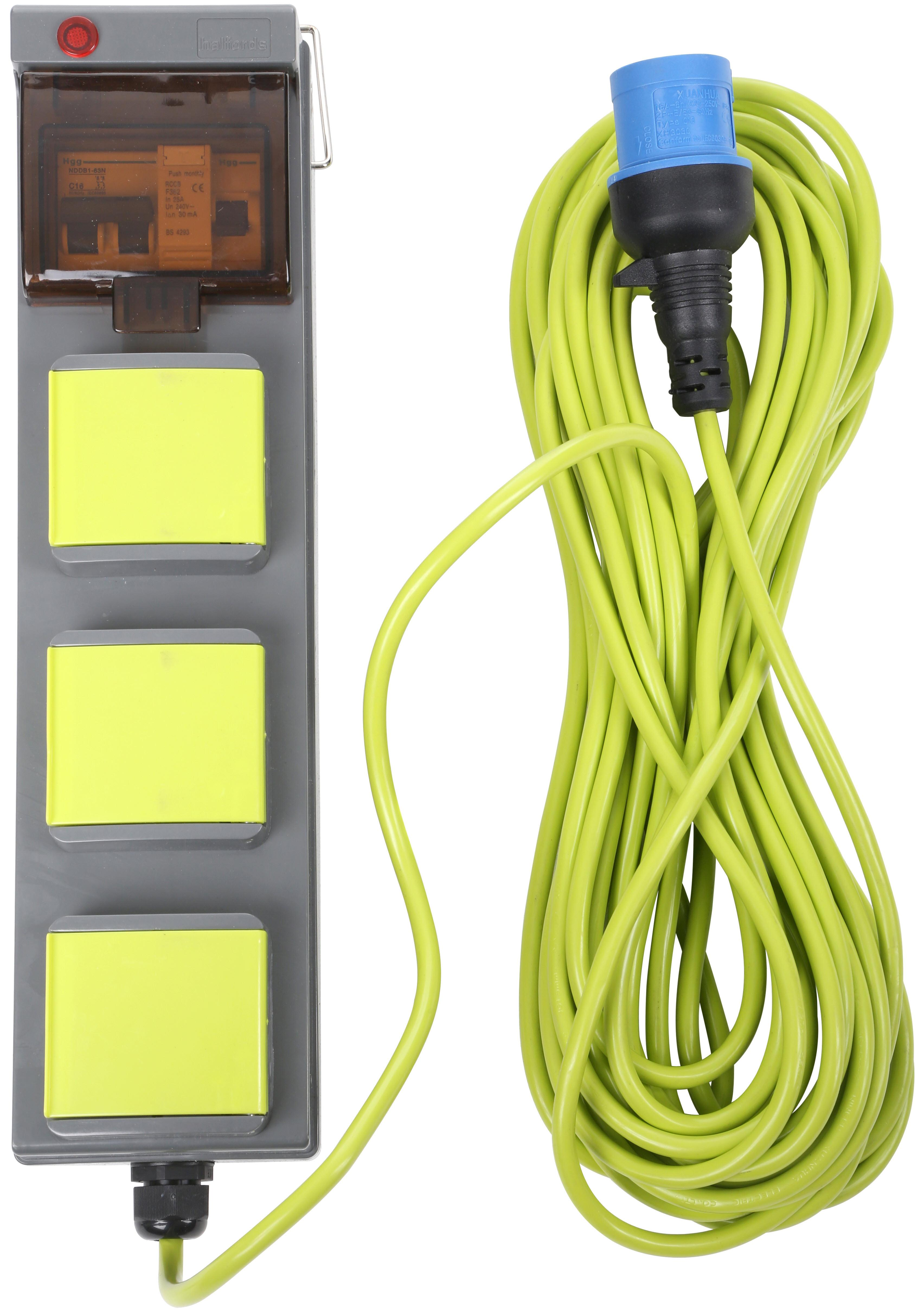 Electrical hookup for tents
