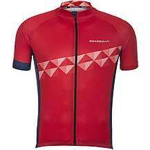 image of Boardman Mens Short Sleeve Cycling Jersey - Red/Blue