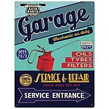 image of Garage Service & Repair Metal Wall Sign