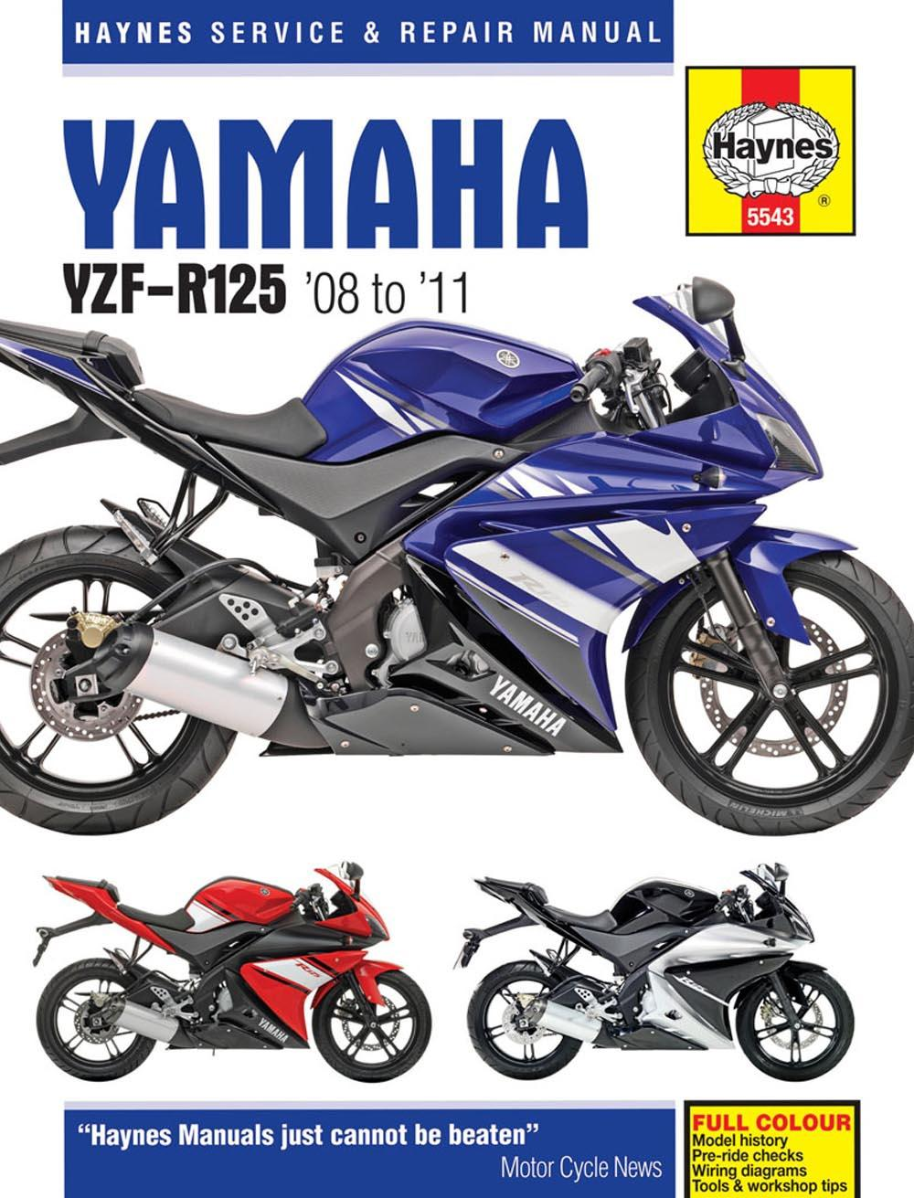 Manual Yamaha Yzf R125 2001 Kawasaki Vulcan 1500 Wiring Diagram Schematic 2008 Array Haynes 08 11 Manu Rh Halfords Com