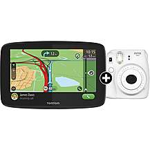 "image of Tomtom Go Essential 6"" Car Sat Nav And Fuji Instax Mini Cam"
