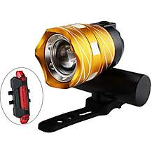 image of SuperMonkey Front & Rear Rechargeable Bike Light Set - Gold