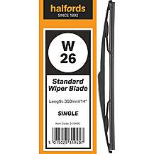 Halfords W26 Wiper Blade - Single