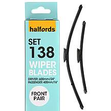 image of Halfords Set 138 Wiper Blades - Front Pair