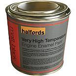 Halfords V High Temperature Engine Enamel Paint Matt Black 250ml