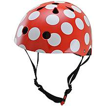 image of Kiddimoto Red Dotty Helmet