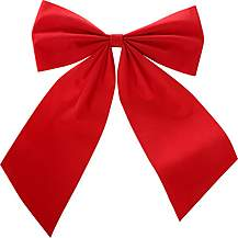 "image of Halfords Flocking Red Gift Bow - 8"" x 10"""